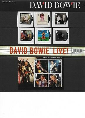 GB 2017 David Bowie Commemorative Stamps In Mint Presentation Pack
