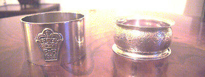 Two silver napkin rings