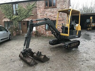 Volvo Ec15b Digger And Trailer