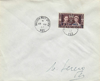 N 1427  Morocco Agencies 13 May 1937 Fez Coronation First Day Cover