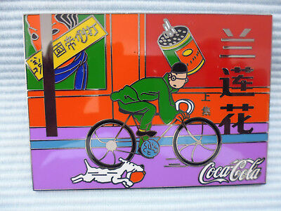 1 Big Pin Coca Cola Tim und Struppi in China von Herge c