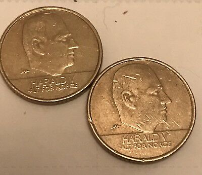 1995 & 1996 Norway 10 Kroner Coin Set KEY DATES AWESOME NUMISMATIC COLLECTIBLE
