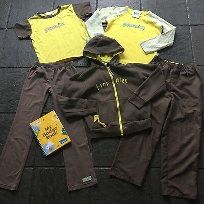 Full Brownies Uniform Aged 7-8 Years, 2 Trousers, 1 Hoody, 2 Tops, Badge Book