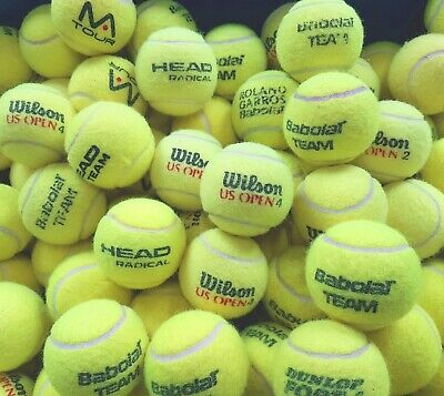 30 Used Tennis Balls - VERY GOOD CONDITION -Ball Games / Dog- Washed & Sanitised