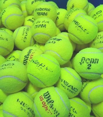 15 Used Tennis Balls - VERY GOOD CONDITION -Ball Games / Dog- Washed & Sanitised