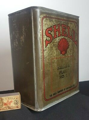 VINTAGE AUSTRALIAN CLAM SHELL CAR MOTOR OIL 1 imp gallon TIN,DRUM,LUBRICANT CAN,