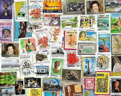 JAMAICA - Selection of Stamps on Paper - Approx 20 grams - 2 Scans