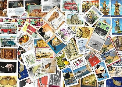 MALTA - Kiloware / Stamps on Paper - Approx 40 grams - 2 Scans