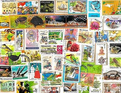 SINGAPORE - Selection of Stamps on Paper - Approx 21 Grams - 2 Scans