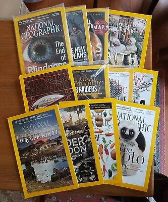 National geographic magazine 2016. Whole year. Will split.