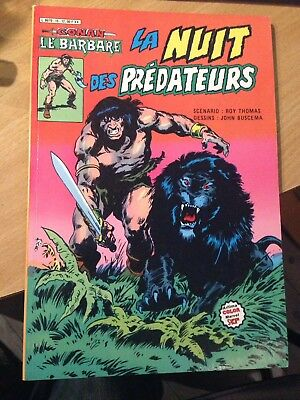 Conan Artima Color Marvel 15 La Nuit Des Prédateurs Buscema  Roy Thomas Marvel