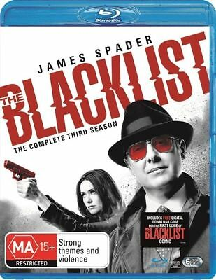 The Blacklist : Season 3 (Blu-ray, 2016, 6-Disc Set) Brand New and Sealed