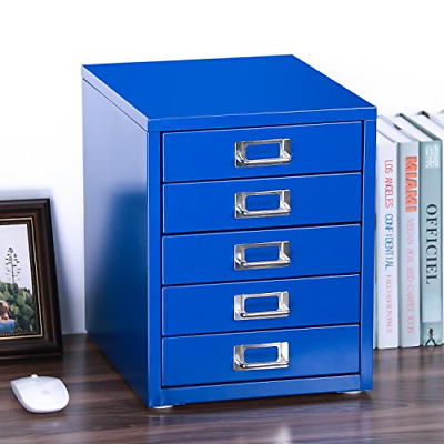 """Z PLINRISE Office File Cabinets 5-Drawer - Size: 13.8"""" x 13.8"""" x 11"""" Metal for"""