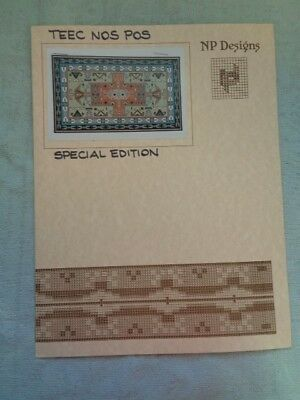 NP Designs CrossStitch Pattern Teec Nos Pos Navajo Weaving Rugs of the Southwest
