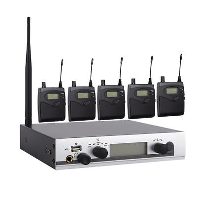 UHF Wireless In Ear Monitor System Stage Monitoring In-ear Earphones for Stage