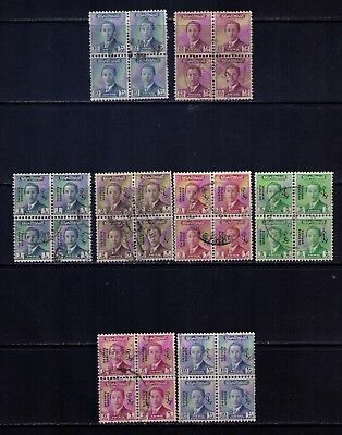 IRAQ EARLY Stamps, 8 x BLOCKS OF 4 ,USED