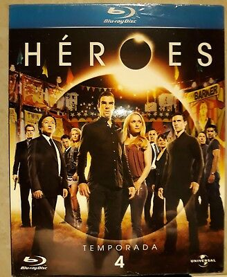 HEROES TEMPORADA 4 CUARTA SERIE TV BLURAY Robert Knepper Hayden Panettiere