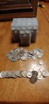 Roll of 50 $5 Face Value 90% Silver Mercury Dimes