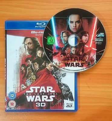 Star Wars: The Last Jedi [3D Blu-ray Disk] **Region Free**