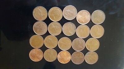 20x 1971 1/2 penny english decimal currency very collectable