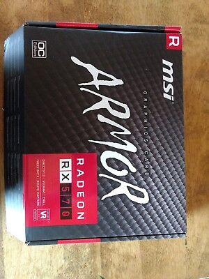 MSI Radeon RX 570 ARMOR OC Edition 8GB GDDR5 Video Card