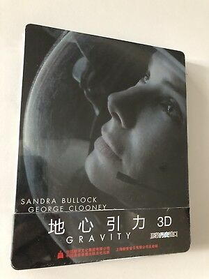 "Steelbook Blu-ray 3D "" Gravity "" China Edition NEW"