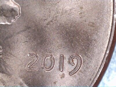 2019-P Lincoln Cent With Extra Thick (9) In Date, Red!!!!!