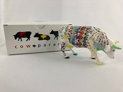 Cow Parade Udderly Groovy Lady Belle Bennett #9170