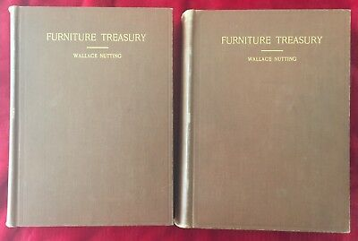 FURNITURE TREASURY by WALLACE NUTTING - 1928 2 VOL. EDITION - SIGNED by NUTTING