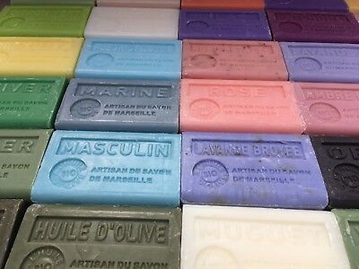 10 X French soap Savon de Marseille + olive oil/shea + EUROPEAN POSTAGE INCLUDED