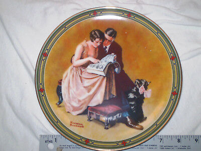 """Norman Rockwell VINTAGE 1985 """"A Couple's Commitment"""" KNOWLES Plate #704R"""