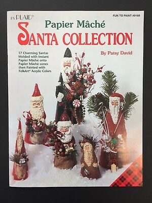 Papier Mache Santa Collection By Patsy David - by Plaid - Fun to Paint # 9169