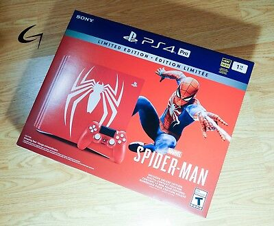 Playstation PS4 Pro Spider-Man Limited Edition BRAND NEW SEALED