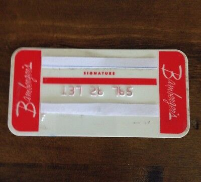 Bamberger's Department Store 1970's Vintage Collectors Credit Card