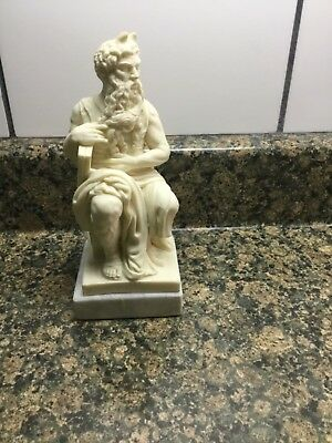 """Mose, Moses resin sculpture on marble base, Michelangelo """" Mose"""" figure"""