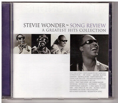 Stevie Wonder Song Review A Greatest Hits Collection     CD