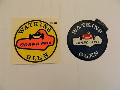 Automobilia/two Vintage Watkins Glen Grand Prix Decals/ferrari/lotus/mclaren