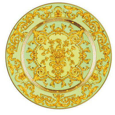 Rosenthal Versace 25Th Years 2003 Green Floralia 22Cm Plate Rrp$270