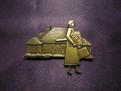 JJ Jonette Jewelry Silver Pewter 'Real Estate SOLD' Tac Pin Modesieraden
