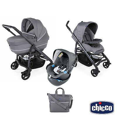Trio CHICCO Love Up Cool Grey con sensori integrati BebèCare