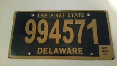 plaque d'immatriculation Delaware Us 994571 Usa license plate