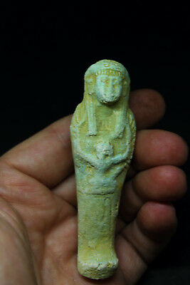 Antique Egyptian Faience glazed terracotta Ushabti
