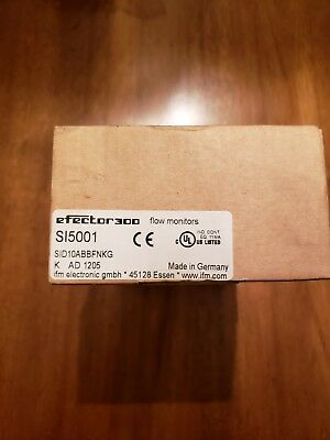 Efector Flow Monitor Sid10Abbfnkg/us-100-Si5001  *new*