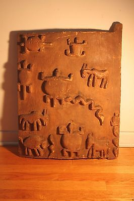 West African carved grainery door.