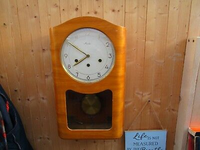 Vintage German Mauthe Westminster Chime Wall Clock  PLEASE READ DESCRIPTION