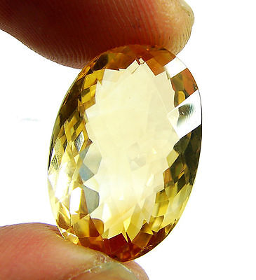 18.75 Ct Natural Citrine Loose Gemstone Checker Cut Beautiful Stone - 10584