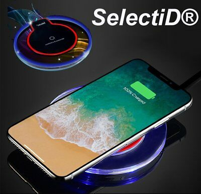 Clear Qi Wireless Fast Charger Dock Charging Pad+Receiver For iPhone 5/6/6s/7 8