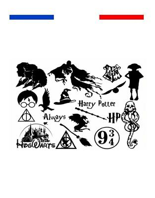 ►► Tatouage Temporaire Univers harry Potter Plateforme 9 3/4 cicatrice dobby
