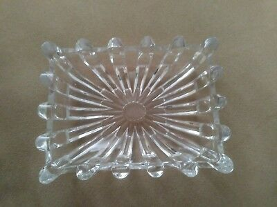 Antique/Vintage  EAPG Clear Glass serving Relish/Pickle rectangular Dish
