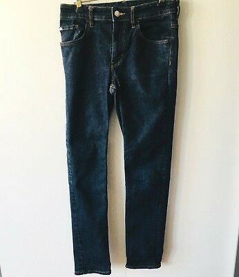 H&M &Denim Boys Skinny Fit Dark Blue Jeans Age 12 - 13 Years Excellent Condition